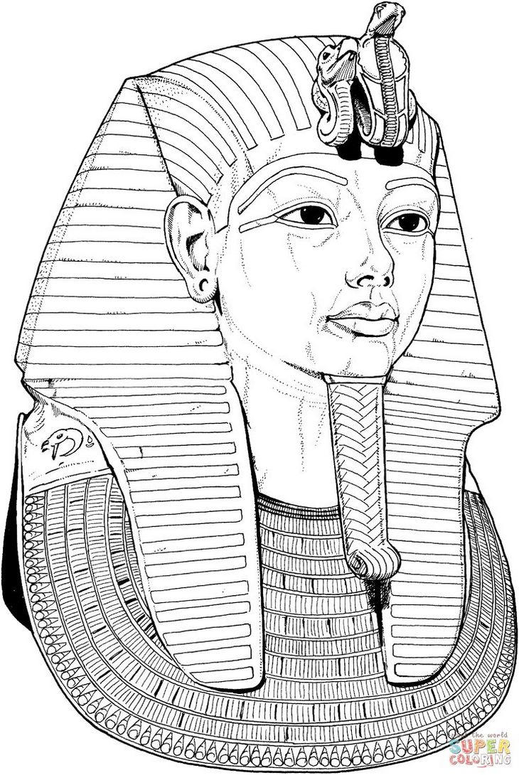 Egypt King Coloring Book