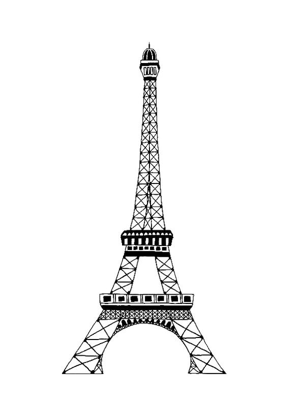 Eiffel Tower Coloring Page To Print
