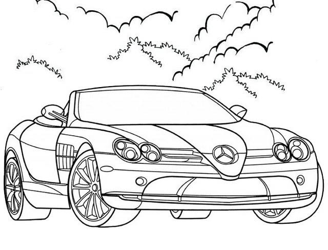 Elegant Convertible Coloring Page For Kids