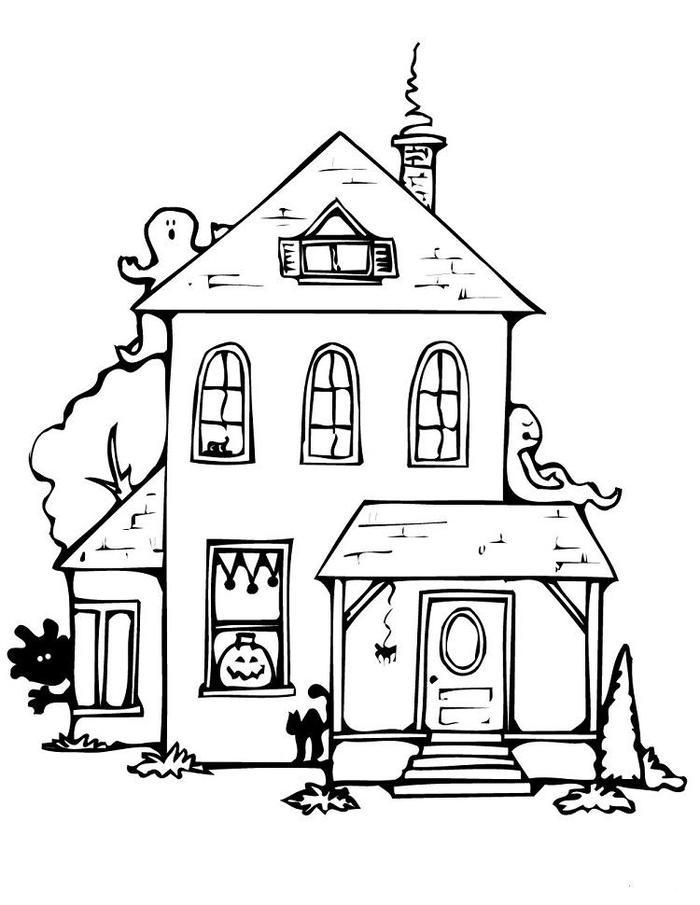 Elegant White House Coloring Pages