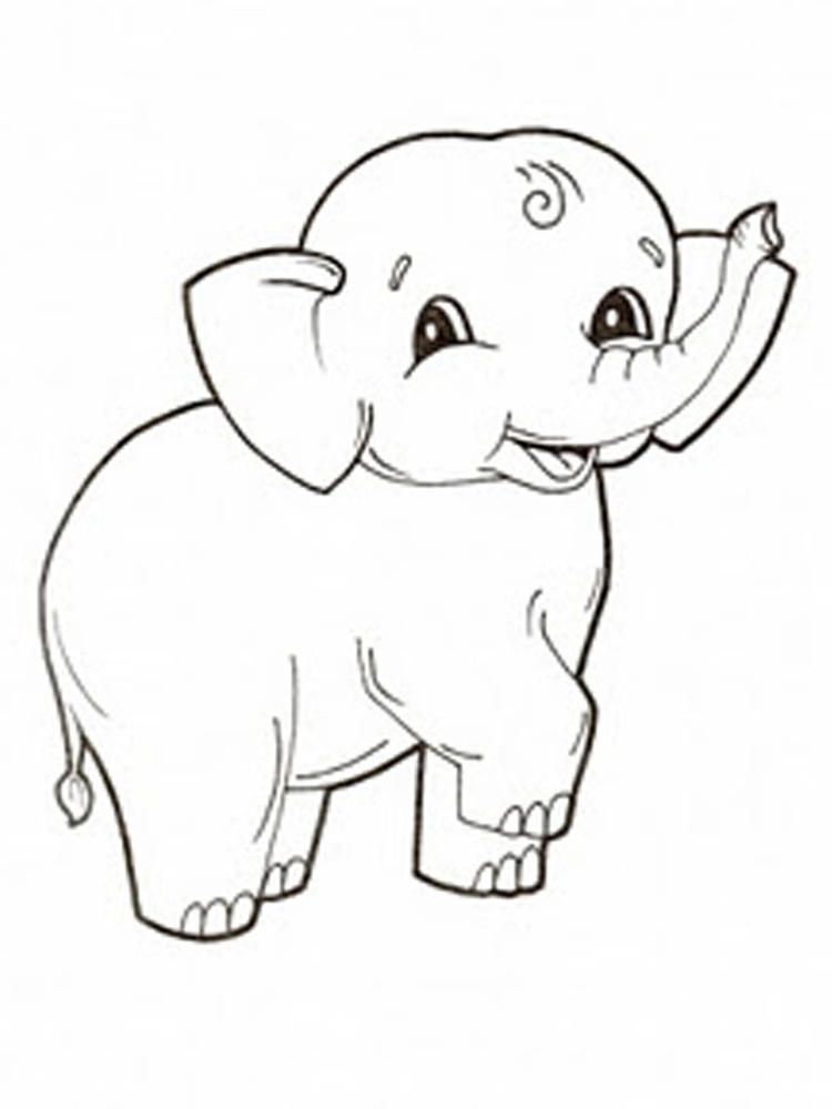 Elephant Coloring Pages 1
