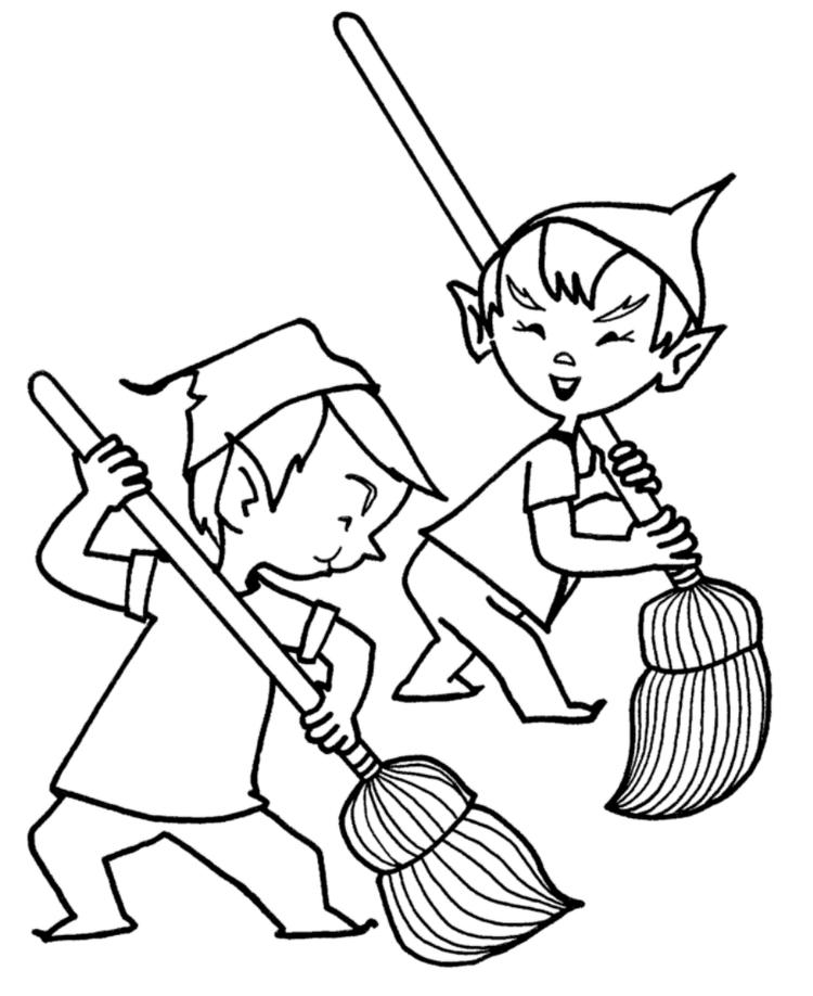 Elf Coloring Pages Printable Free