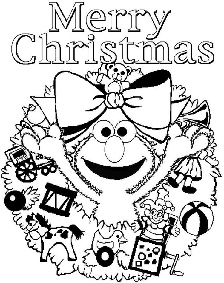Elmo Coloring Pages For Christmas Free Printable