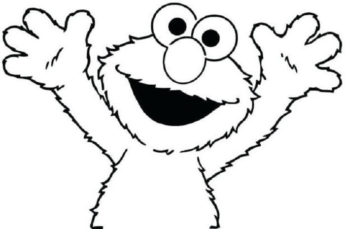 Elmo Coloring Pages For Toddlers