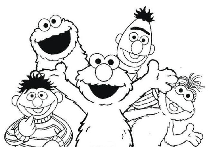 Elmo Coloring Pages Free Kids