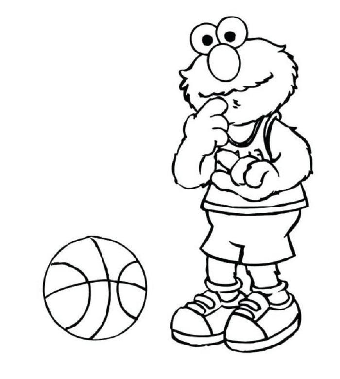Elmo Doing Sport Coloring Pages