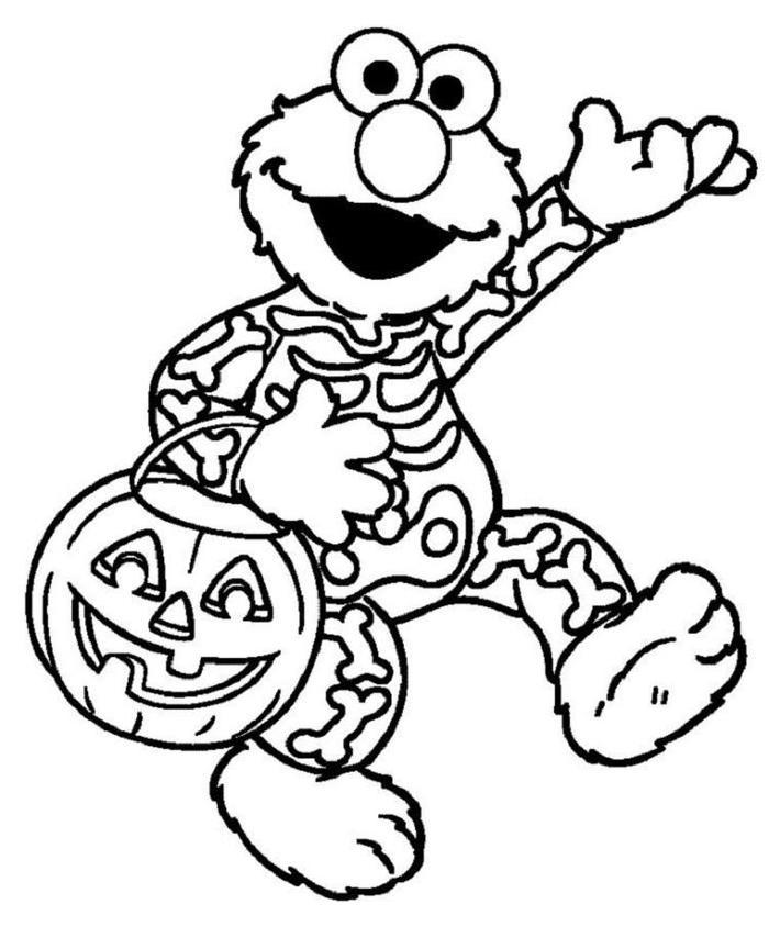 Elmo Halloween Coloring Pages