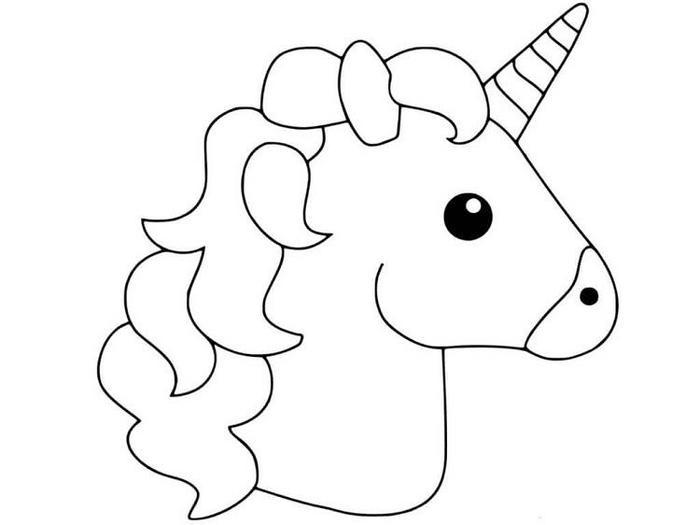 Emoji Coloring Pages Unicorn