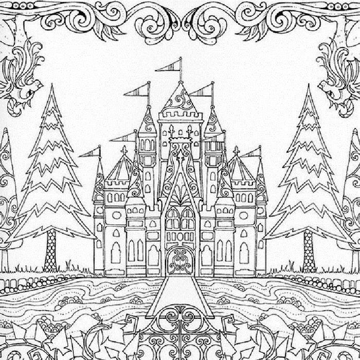 Enchanted Forest Castle Coloring Pages