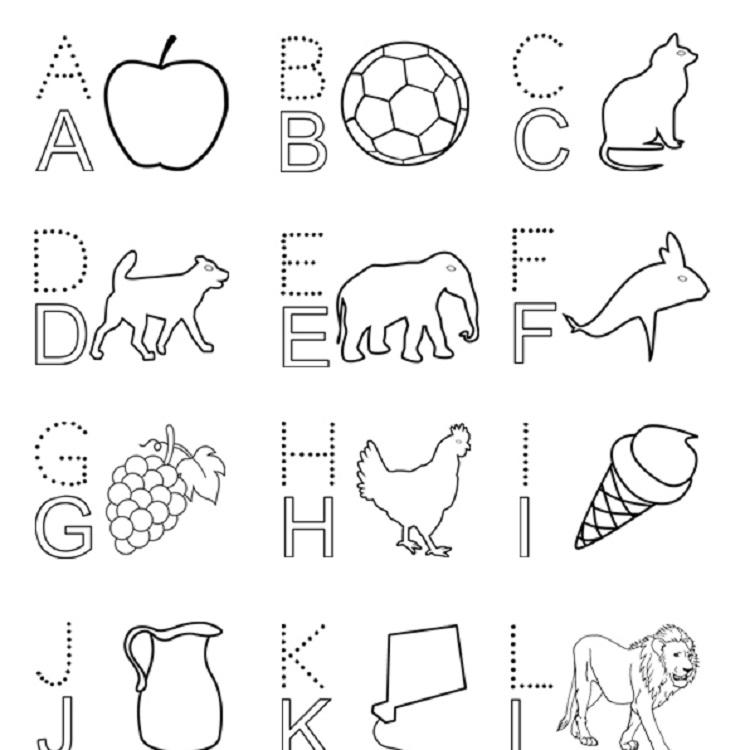 English Alphabet Coloring Pages