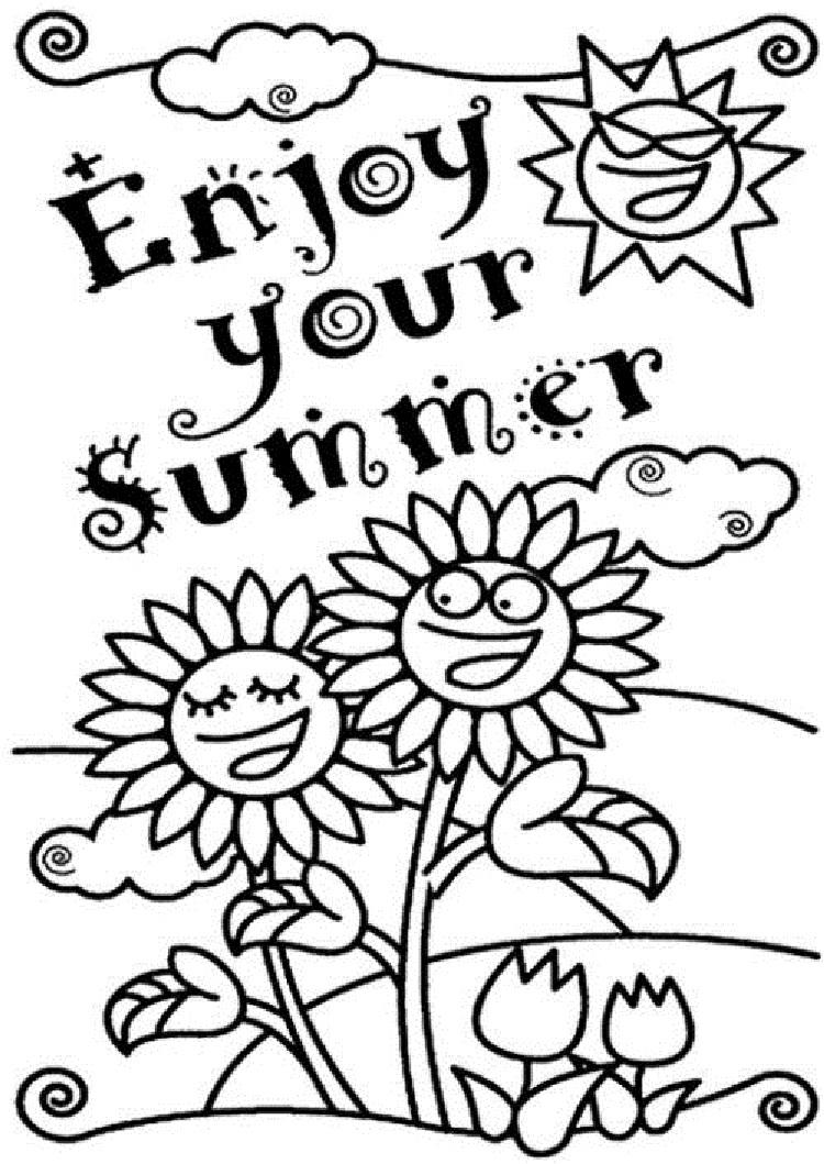 Enjoy Your Summer Coloring Pages