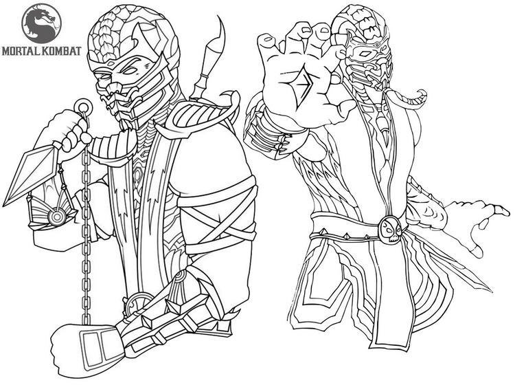 Epic And Stunning Mortal Kombat Coloring Sheet
