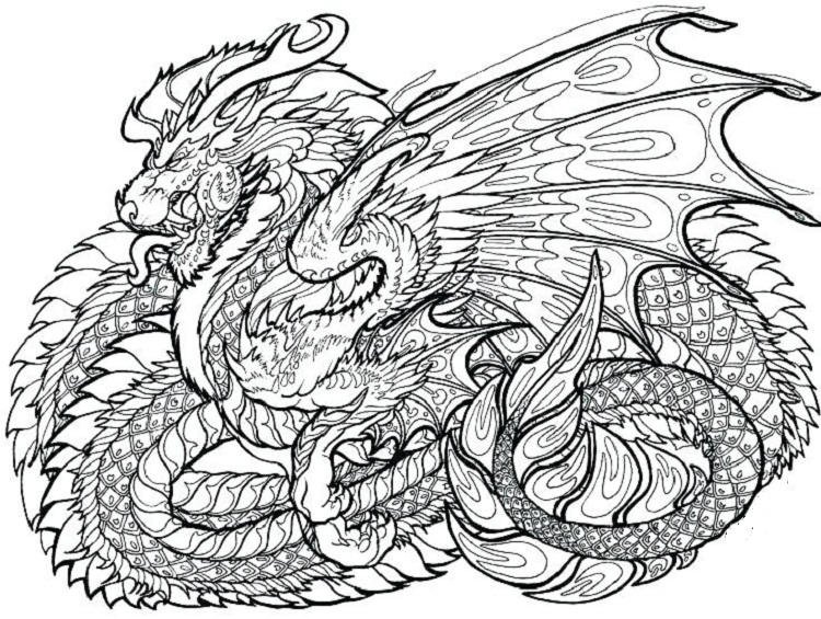 Epic Dragons Coloring Pages
