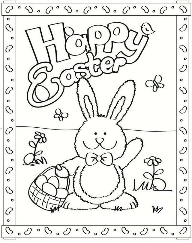 Epic Happy Easter Bunny Coloring Pages