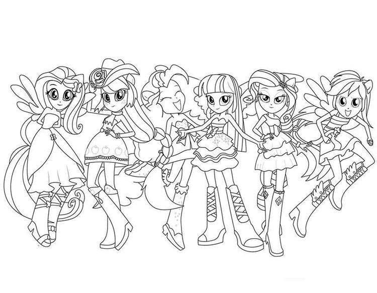 Equestria Girls Coloring Pages All Characters
