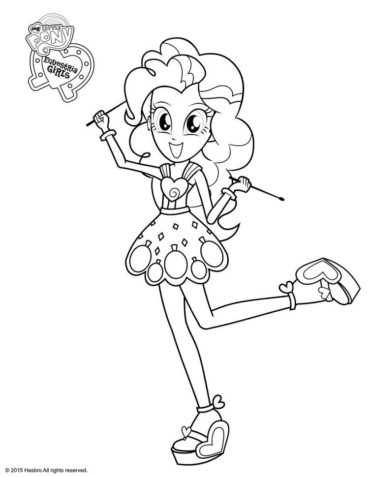 Equestria Girls Coloring Pages Pinkie Pie