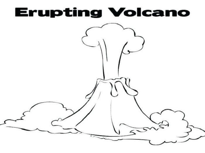 Erupting Volcano Coloring Pages