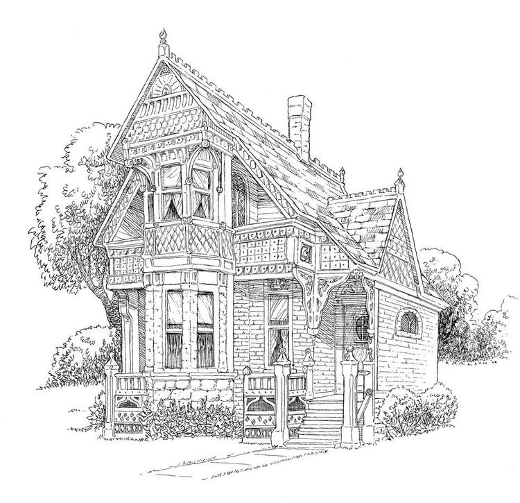 Europe Home Coloring Page