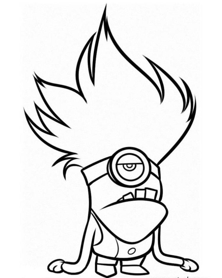 Evil Minion Despicable Me 2 Coloring Pages