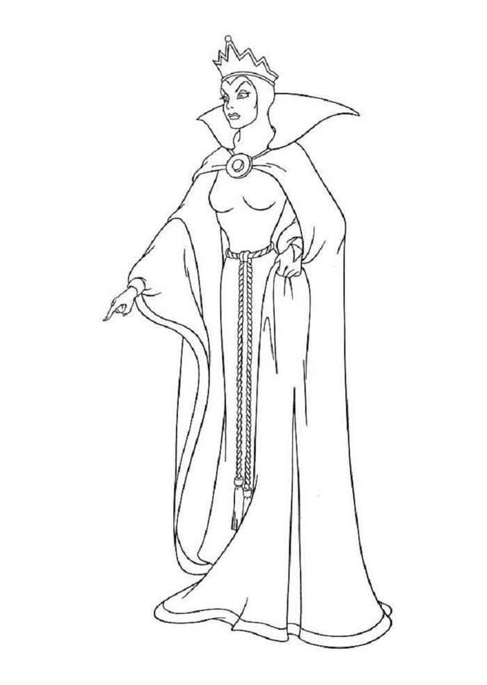 Evil Queen Coloring Pages