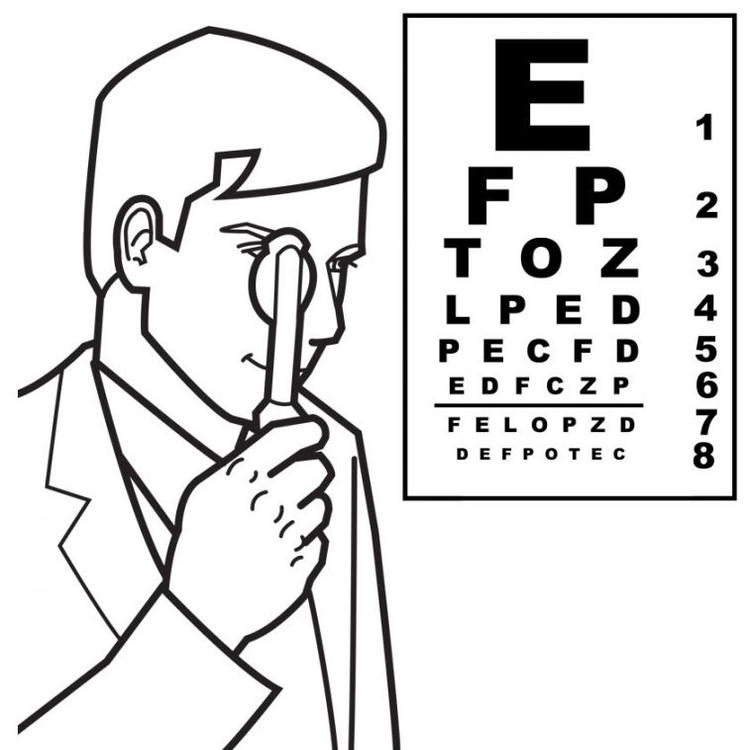 Eye Doctor Colouring Pages