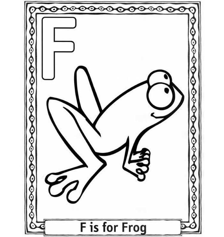 F For Frog Free Alphabet Coloring Pages For Kids