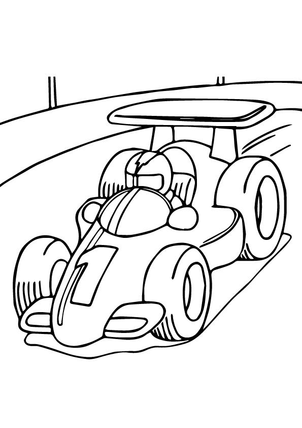 F1 Race Car Coloring Pages For Kids