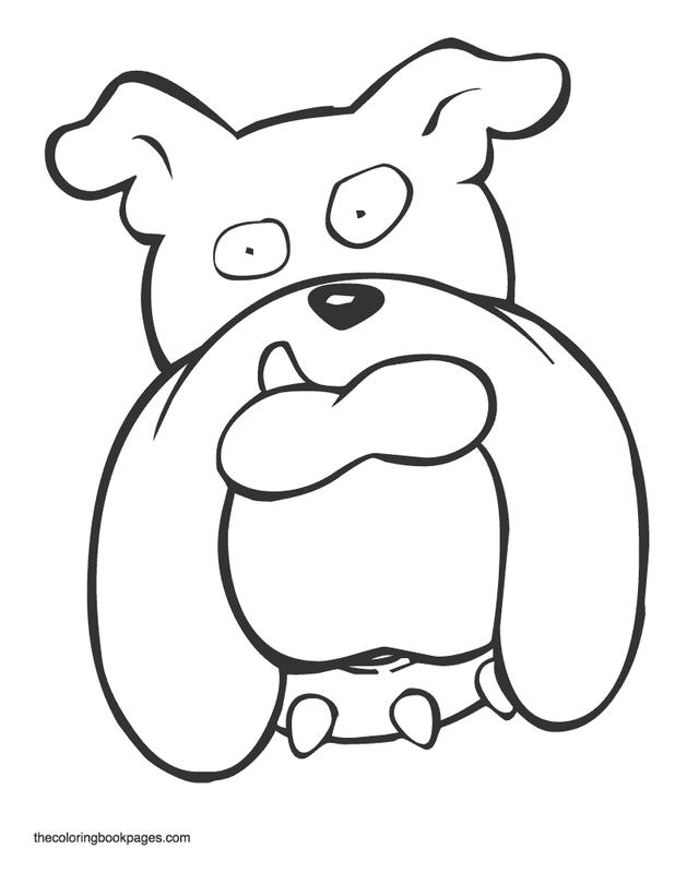 Face Bulldog Coloring Pages 1
