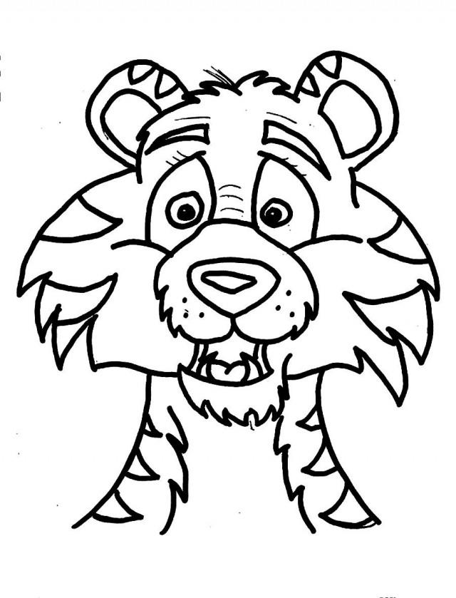 Face Lisa Frank Tiger Coloring Pages