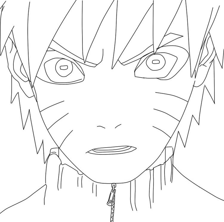 Face Naruto Coloring Pages