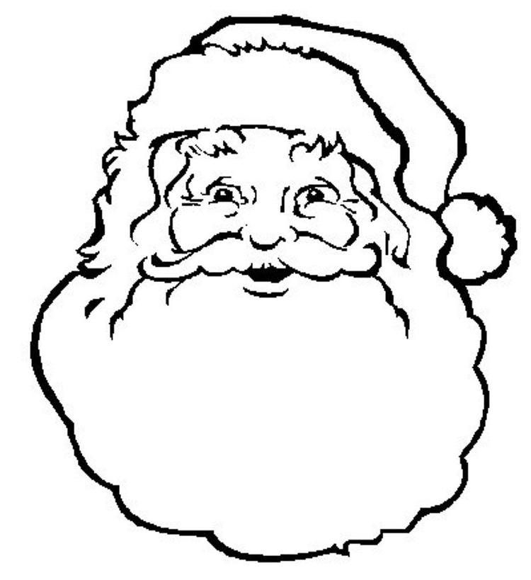 Face Of Santa Claus Coloring Pages Free Christmas Coloring Pages