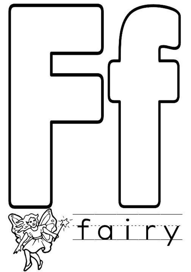 Fairy Alphabet Coloring Pages Free