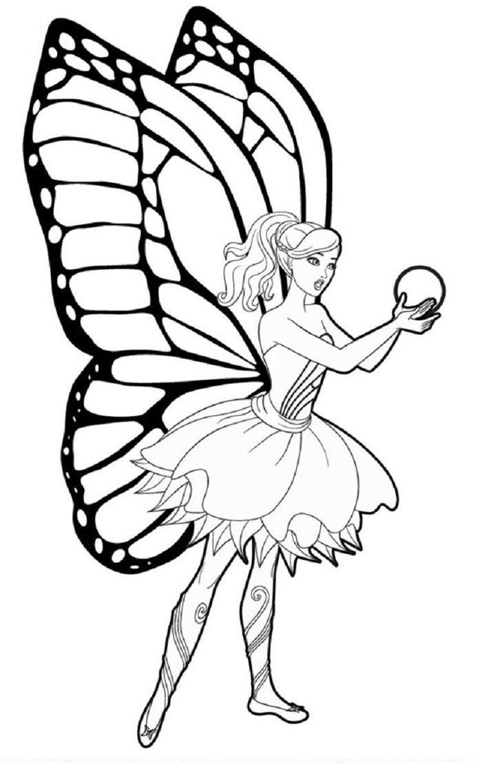 Fairy Barbie Coloring Pages