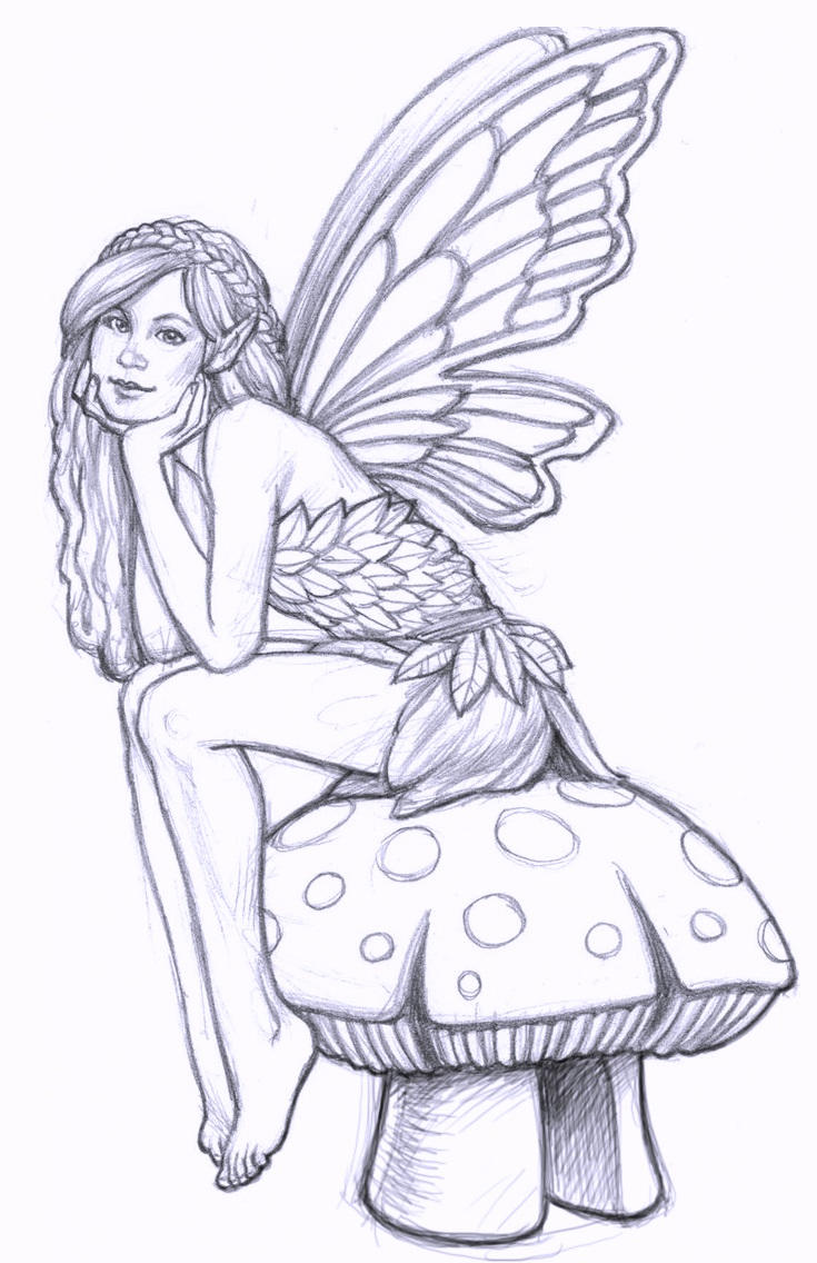 Fairy Coloring Pages For Adults And Kids 02