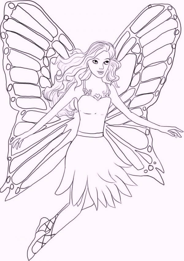 Fairy Coloring Pages For Adults And Kids 06