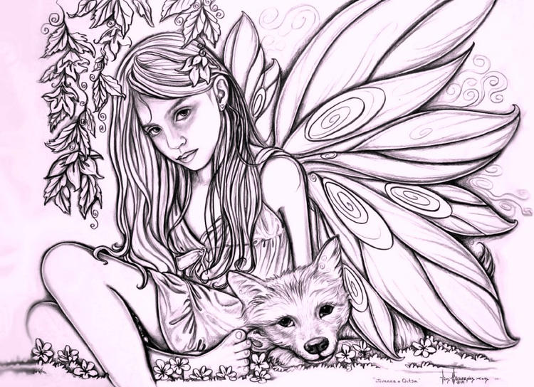 Fairy Coloring Pages For Adults And Kids