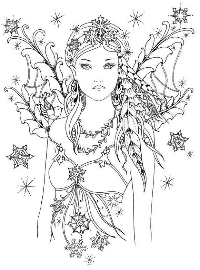Fairy Queen Coloring Pages