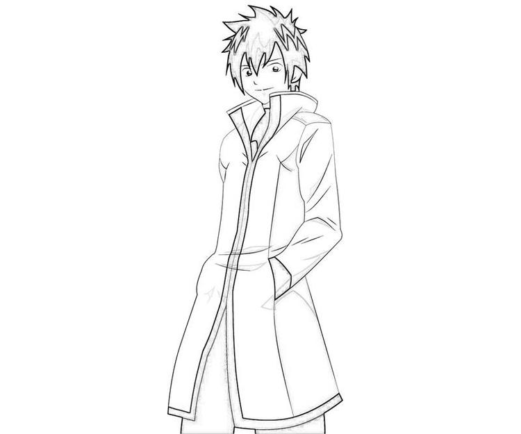 Fairy Tail Coloring Pages Gray