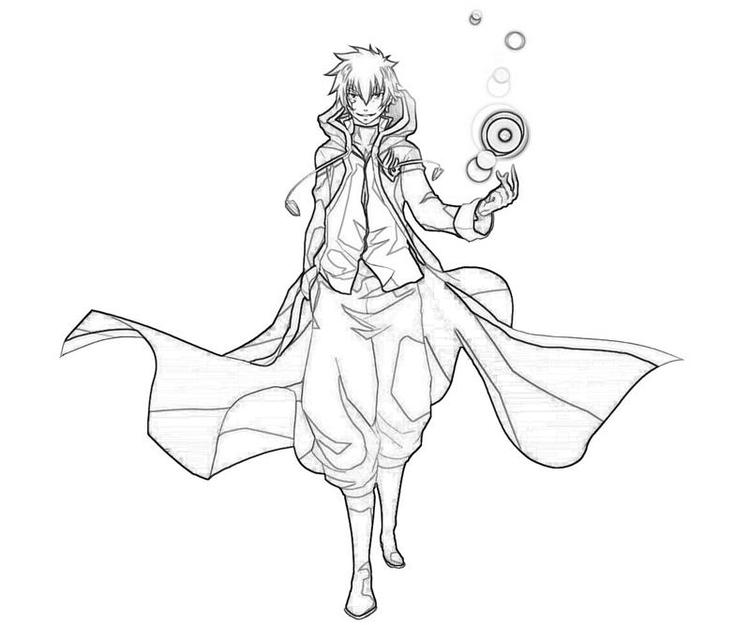 Fairy Tail Coloring Pages Jellal