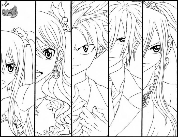 Fairy Tail Coloring Pages To Print