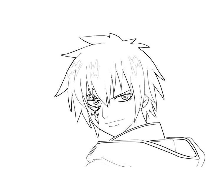 Fairy Tail Jellal Coloring Pages