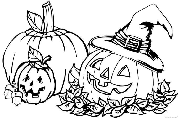 Fall Pumpkin Toddler Coloring Pages