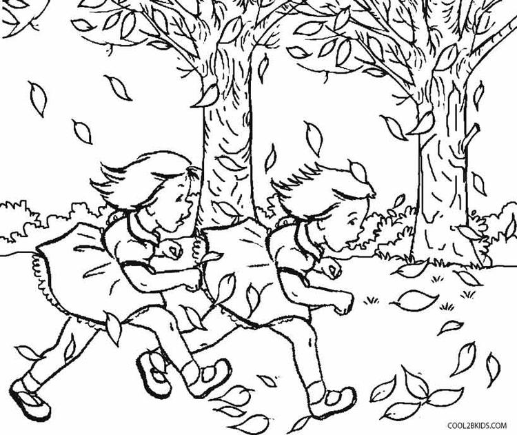 Fall Toddler Coloring Pages Print Out