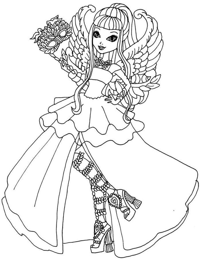 Fallen Angel Gothic Fairies Coloring Pages