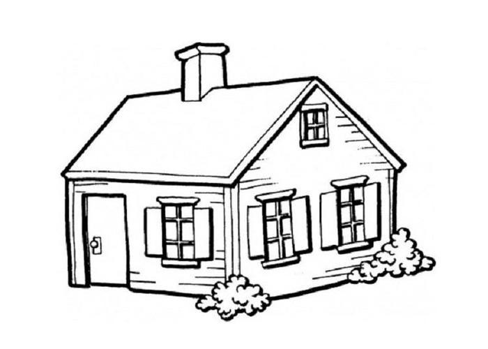 Family House Coloring Pages