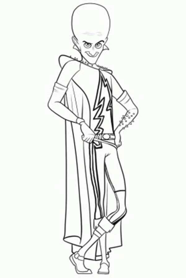 Famous Character Megamind Coloring Pages