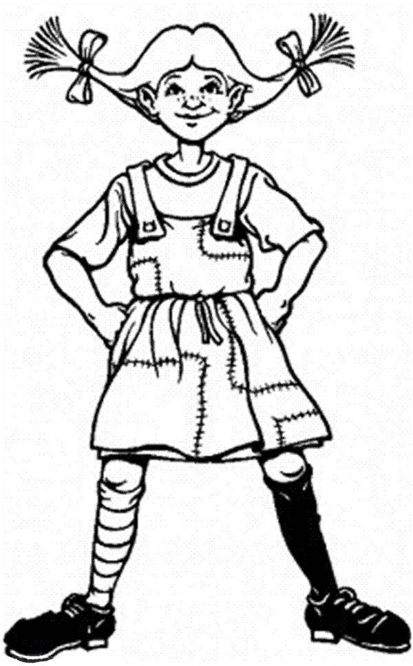 Famous Pippi Longstocking Coloring Pages