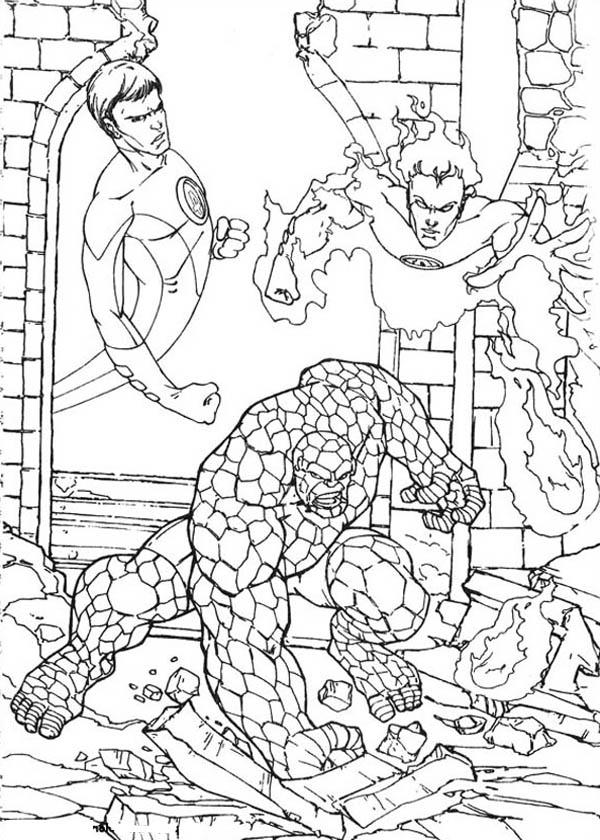 Fantastic Four Image Coloring Pages