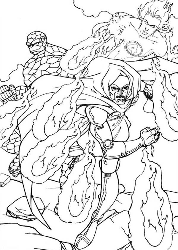 Fantastic Four Nemesis Doctor Doom Coloring Pages