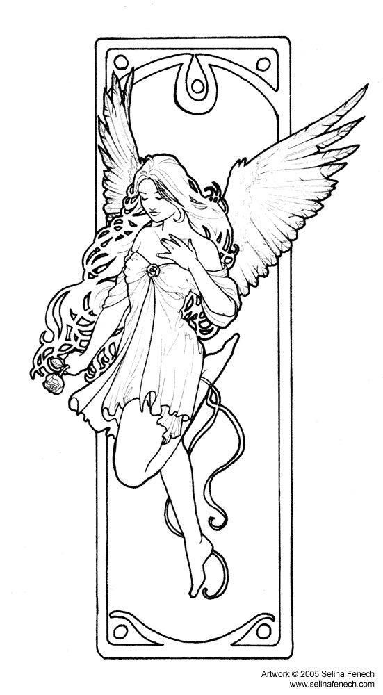 Fantasy Coloring Pages Beautiful Fairy